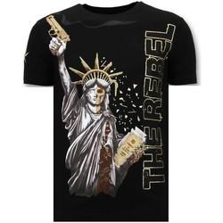 textil Herr T-shirts Local Fanatic Lyx T Skjorta The Rebel Z Svart