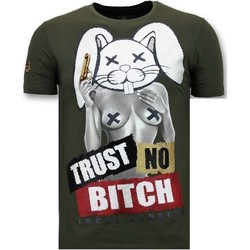 textil Herr T-shirts Local Fanatic Lyx Lita No Bitch G Grön