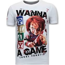 textil Herr T-shirts Local Fanatic Chucky Childs Play W Vit