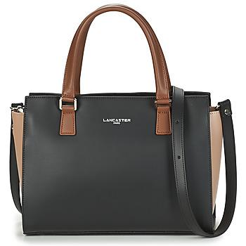 Väskor Dam Handväskor med kort rem LANCASTER CONSTANCE Svart / Beige / Kamel