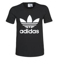 textil Dam T-shirts adidas Originals TREFOIL TEE Svart
