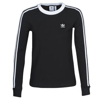textil Dam Långärmade T-shirts adidas Originals 3 STR LS Svart