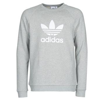 textil Herr Sweatshirts adidas Originals TREFOIL CREW Ljung / Grå