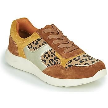 Skor Dam Sneakers Damart 62328 Beige / Gul