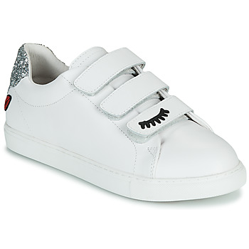 Skor Dam Sneakers Bons baisers de Paname EDITH EYES Vit
