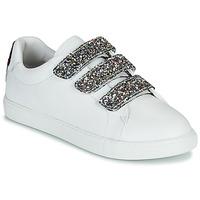 Skor Dam Sneakers Bons baisers de Paname EDITH GLITTER TONGUE Vit