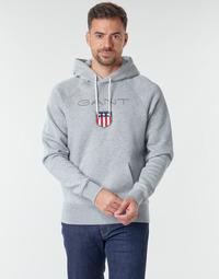 textil Herr Sweatshirts Gant GANT SHIEL HOODIE Grå