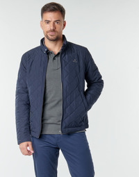 textil Herr Vindjackor Gant QUILTED WINDCHEATER Marin