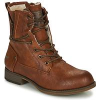 Skor Dam Boots Mustang  Cognac