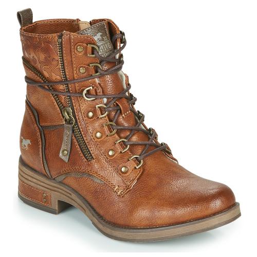 Skor Dam Boots Mustang 1293601 Cognac