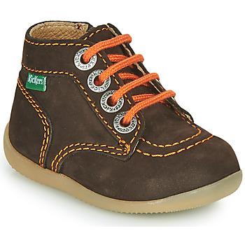 Skor Pojkar Boots Kickers BONZIP-2 Brun / Orange