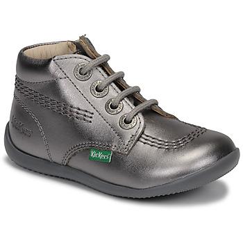 Skor Flickor Boots Kickers BILLYZIP-2 Silver