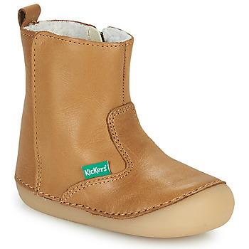 Skor Flickor Boots Kickers SOCOOL CHO Kamel
