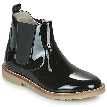 Skor Flickor Boots Kickers TYPIK Svart / Grön