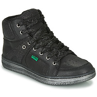 Skor Flickor Höga sneakers Kickers LOWELL Svart