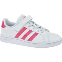 Skor Flickor Sneakers adidas Originals Grand Court K Vit,Rosa