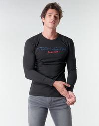 textil Herr Långärmade T-shirts Teddy Smith TICLASS BASIC M Svart
