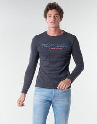 textil Herr Långärmade T-shirts Teddy Smith TICLASS BASIC M Marin