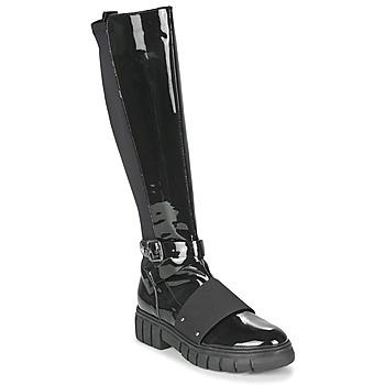Skor Dam Boots Philippe Morvan DARMY V1 VERNIS NOIR Svart