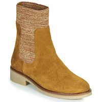 Skor Dam Boots Bensimon BOOTS CHAUSSETTE Brun