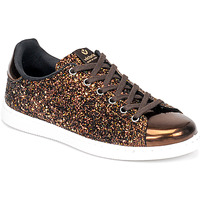 Skor Dam Sneakers Victoria TENIS GLITTER Brons