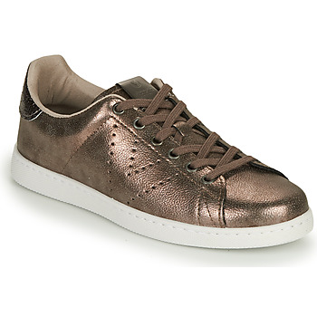 Skor Dam Sneakers Victoria TENIS METALIZADO Guldfärgad