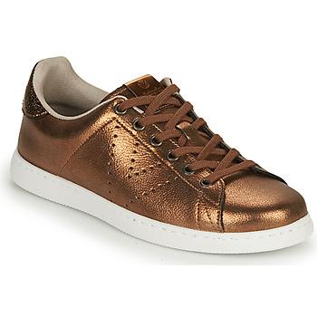 Skor Dam Sneakers Victoria TENIS METALIZADO Brons