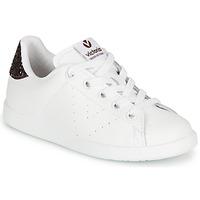 Skor Flickor Sneakers Victoria TENIS PIEL Vit / Bordeaux