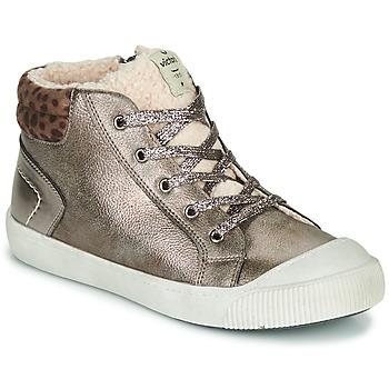 Skor Flickor Höga sneakers Victoria HUELLAS METAL Silver