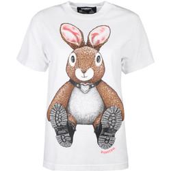 textil Dam T-shirts Domrebel  Vit