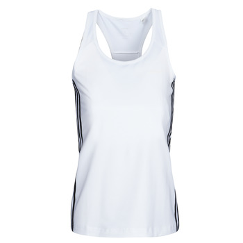 textil Dam Linnen / Ärmlösa T-shirts adidas Performance W D2M 3S TANK Vit