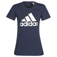 textil Dam T-shirts adidas Performance W BOS CO TEE Blå