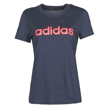 textil Dam T-shirts adidas Performance W E LIN SLIM T Bläckfärgad / Legend