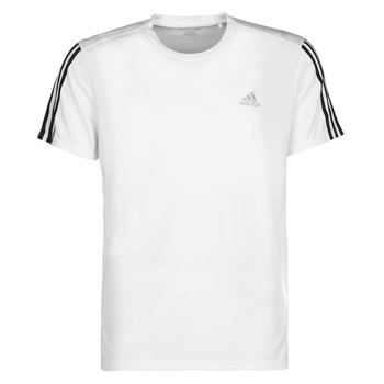 textil Herr T-shirts adidas Performance RUN IT TEE 3S M Vit