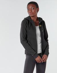textil Dam Sweatjackets Puma METALLIC FZ HOODY TR Svart / Guldfärgad