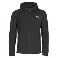 textil Herr Sweatjackets Puma EVOSTRIPE FZ HOODY Svart