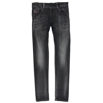 textil Pojkar Skinny Jeans Diesel SLEENKER Svart