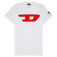 textil Barn T-shirts Diesel TJUSTDIVISION Vit
