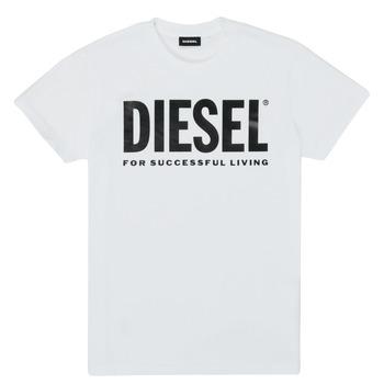 textil Barn T-shirts Diesel TJUSTLOGO Vit