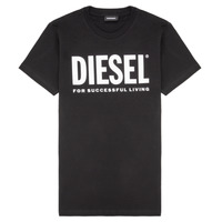textil Barn T-shirts Diesel TJUSTLOGO Svart