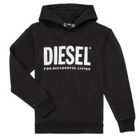 textil Pojkar Sweatshirts Diesel SDIVISION LOGO Svart