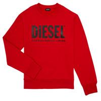 textil Pojkar Sweatshirts Diesel SCREWDIVISION LOGO Röd