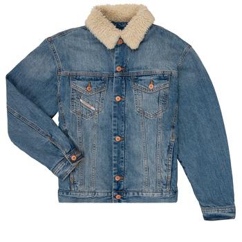 textil Pojkar Jeansjackor Diesel JRESKY Blå