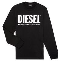 textil Pojkar Långärmade T-shirts Diesel TJUSTLOGO ML Svart