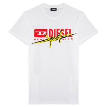 textil Pojkar T-shirts Diesel TDIEGOBX2 Vit