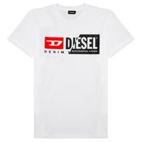 textil Barn T-shirts Diesel TDIEGOCUTY Vit