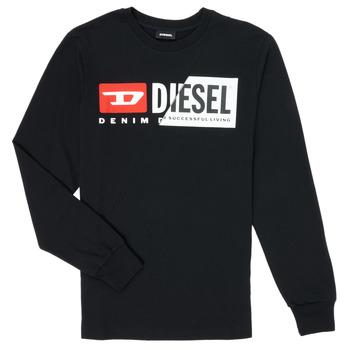 textil Barn Långärmade T-shirts Diesel TDIEGOCUTY Svart