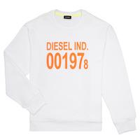 textil Barn Sweatshirts Diesel SGIRKJ3 Vit
