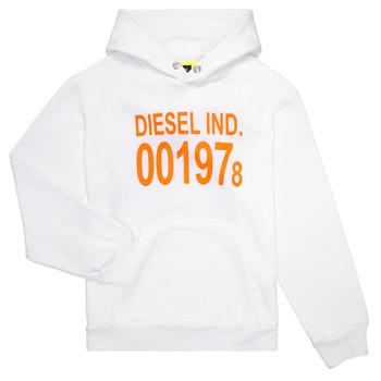 textil Barn Sweatshirts Diesel SGIRKHOOD Vit