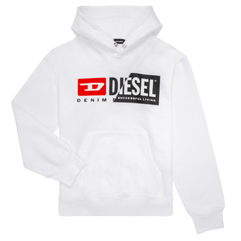 textil Barn Sweatshirts Diesel SGIRKHOODCUTY Vit